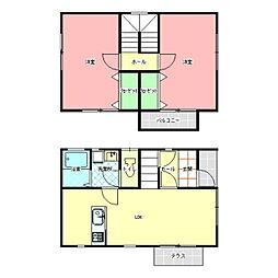 [一戸建] 茨城県水戸市見川5丁目 の賃貸【/】の間取り