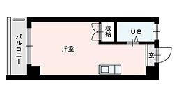 大橋中央ビル[305号室]の間取り
