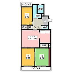 メゾン・ド・飯田[2階]の間取り