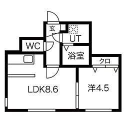 マルガレーテン[4階]の間取り