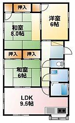 [一戸建] 千葉県山武市津辺 の賃貸【/】の間取り