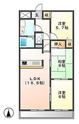 悠和苑[2階]の間取り