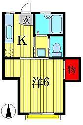 サリオカーラ[2階]の間取り
