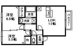 ロイヤルヘルツ[2階]の間取り