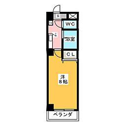 PROUDIA岡崎 5階1Kの間取り