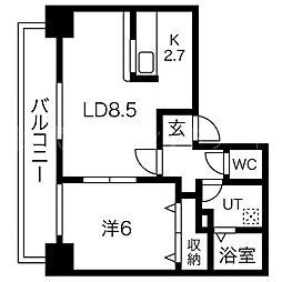 ドエル円山[7階]の間取り