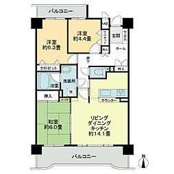 ライオンズマンション高師緑地第2[8階]の間取り