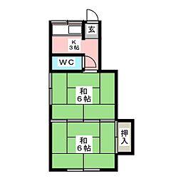佐藤アパート[1階]の間取り
