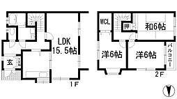 [テラスハウス] 大阪府箕面市桜5丁目 の賃貸【/】の間取り