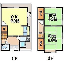 ミツマルアパート2[003号室]の間取り