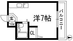 兵庫県西宮市門戸岡田町の賃貸アパートの間取り