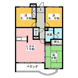コートアベニュー[1階]の間取り