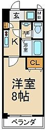 大阪府寝屋川市日新町の賃貸マンションの間取り