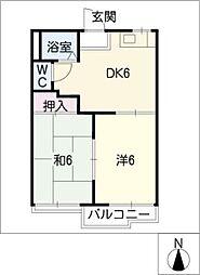 タウニー三郷[1階]の間取り