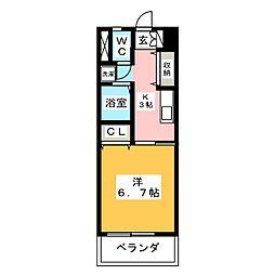 リバーリッチマンション[4階]の間取り