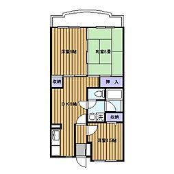 エクセラーク[2階]の間取り