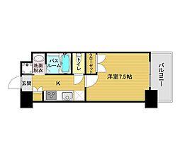 ORIENT BLD No.122(1K Aタイプ 中部屋) 9階1Kの間取り