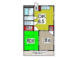 ニュー藤マンション[1階]の間取り