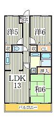 木崎台マンション[1階]の間取り