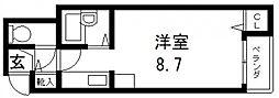 CTビュー小阪[101号室号室]の間取り