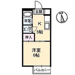 広島県呉市東中央2丁目の賃貸アパートの間取り