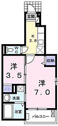 プランヴェール[1階]の間取り