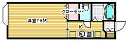セジュール関屋田町[205号室]の間取り