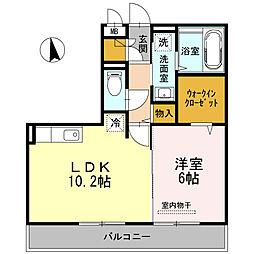 サニープレイス鶴崎[2階]の間取り