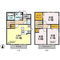 (仮)今羽町D-room新築工事[101号室]の間取り
