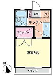 ラベンダー湘南II[2階]の間取り