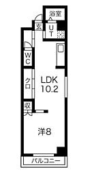 Osaka Metro長堀鶴見緑地線 西大橋駅 徒歩5分の賃貸マンション 3階1LDKの間取り