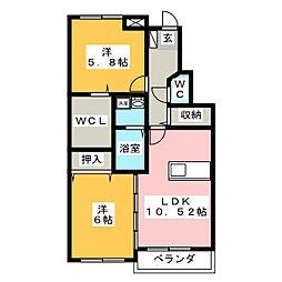 RICHES 21[1階]の間取り