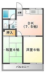 コーポ河芸[2階]の間取り