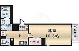 阪急宝塚本線 豊中駅 徒歩7分の賃貸マンション 5階1Kの間取り