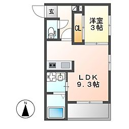 REGALEST茶屋ヶ坂[2階]の間取り