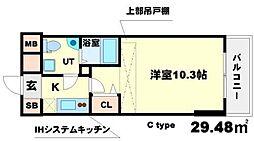 SERENiTE江坂四番館[10階]の間取り