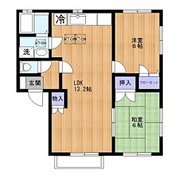 コート・ドールD棟[1階]の間取り