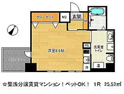 アドバンス三宮4ルシール[6階]の間取り