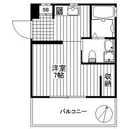 東京都世田谷区太子堂2丁目の賃貸マンションの間取り