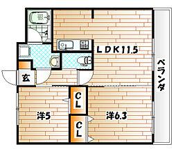 T−FLAT58[3階]の間取り