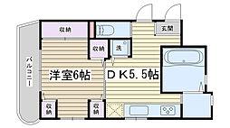 ガウディ動坂[305号室]の間取り