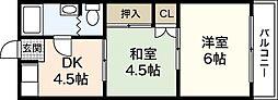 広島県広島市西区高須1丁目の賃貸アパートの間取り