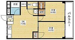 第3高光マンション[5階]の間取り