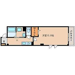 JR関西本線 奈良駅 徒歩3分の賃貸マンション 1階1Kの間取り