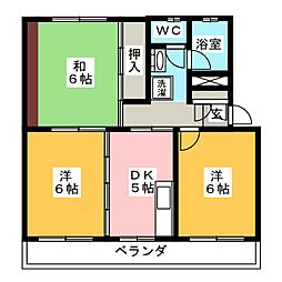 サクセスコート[2階]の間取り