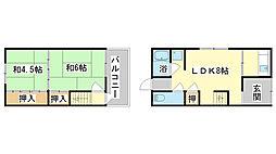 [テラスハウス] 兵庫県姫路市飾磨区中野田2丁目 の賃貸【/】の間取り