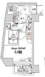 VERXEED横濱WEST[8階]の間取り