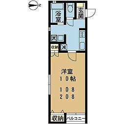 新潟県新潟市中央区笹口3丁目の賃貸アパートの間取り