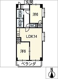 那須マンション[2階]の間取り