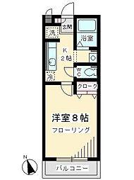 神奈川県川崎市麻生区上麻生5の賃貸アパートの間取り
